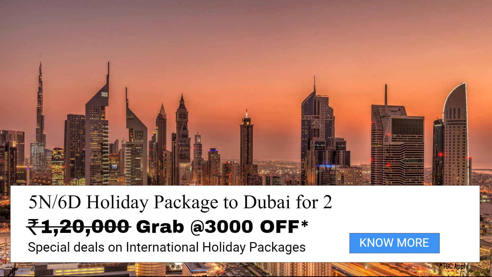 Deals on Dubai Holiday Package