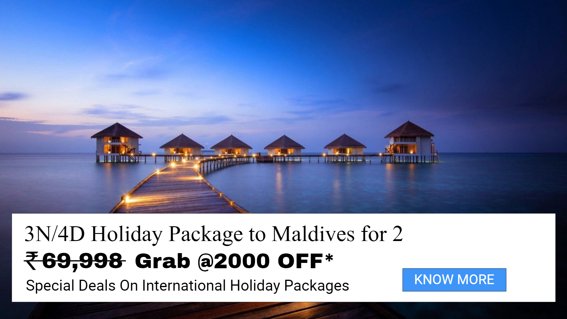 Maldives Special Deal for Honeymooners